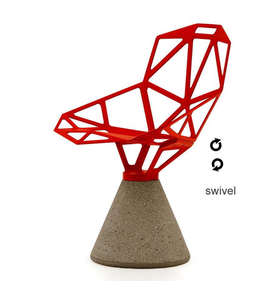 chair one concrete swivel magis konstantin grcic owo. Black Bedroom Furniture Sets. Home Design Ideas
