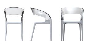 driadestore-ring-chair Chair, Driade Store RING ,  Philippe Starck with Eugeni Quitllet, 2009 Armchair with structure in polipropylene in red, silver, white or black colour and trasparent colourless polycarbonate back.  . Driade