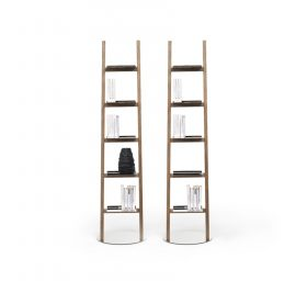 mogg-allascala Bookcase, Mogg, ALLA SCALA BOOKCASE, Claudio Bitetti, 2014 Floor lamp - bookcase in made in  solid wood.  . Mogg