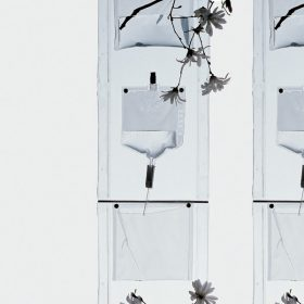 driadestore-erbale Plant-holder, Driade, ErbalePlant-holder in transparent PVC plastic, equipped with four bags for plants and four bags for water.. Driade