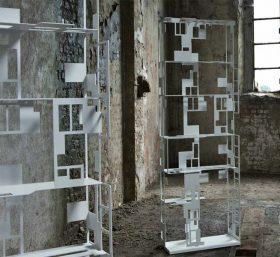 frida-minotti Bookcase, Minotti Italia, FRIDA, Roberto Mora, 2011, Storage Unit or bookcase selfstanding, made in metal.  . Minotti Italia