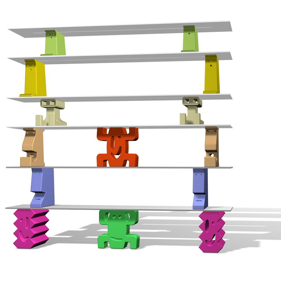 Magis me too ladrillos bookcase bjorn dahlstrom javier for Javier mariscal design