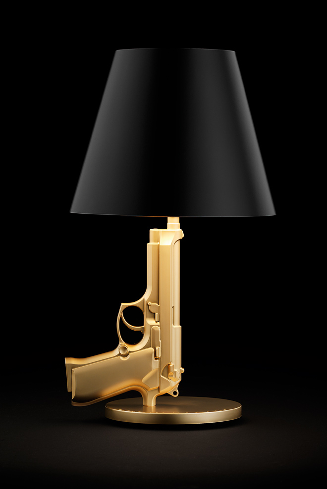 guns bedside gun lamp flos philippe starck owo online design store. Black Bedroom Furniture Sets. Home Design Ideas