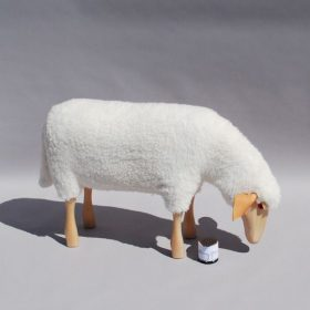 sheep-grazing-hanns-peter-krafft Figures/ Stool, Owo, SHEEP GRAZING, Hamms-Peter Kraff.  . Owo
