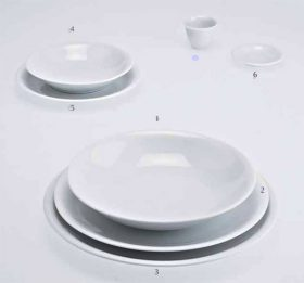 driadekosmo-the-white-snow-piatti Dinner-service Driade Kosmo, The White Snow, Antonia Astori, 1996.. Driade