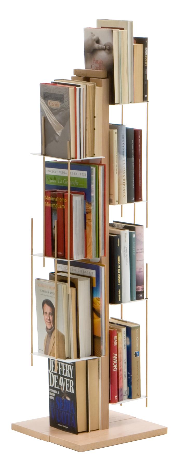 Veronica Bookcase Self Standing Natiural le Zie di Milano
