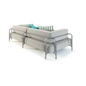 sabal-sofa-240 Sofa, Coro, SABAL SOFA 240 WITH ARMREST, Matteo Nunziati.   . Coro